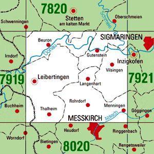 7920 LEIBERTINGEN topographische Karte 1:25.000 Baden-Württemberg, TK25