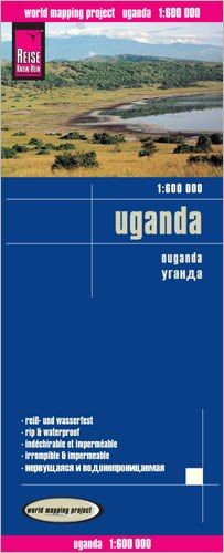 Uganda Landkarte 1:600.000, Reise Know-How