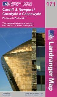 Landranger 171 Cardiff & Newport / Caerdydd & Casnewydd Wanderkarte 1:50.000 - OS / Ordnance Survey