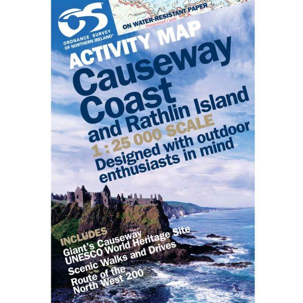 Activity Map Causeway Coast and Rathlin Island, 1:25.000, Ordnance Survey Northern Ireland