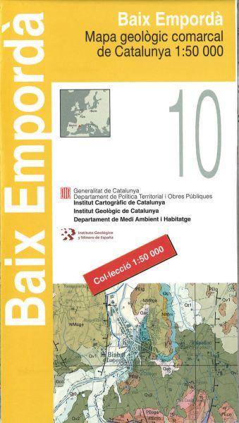 Karte Costa Brava Spanien.Baix Emporda Katalonien Topographische Karte 1 50 000 Icc 10