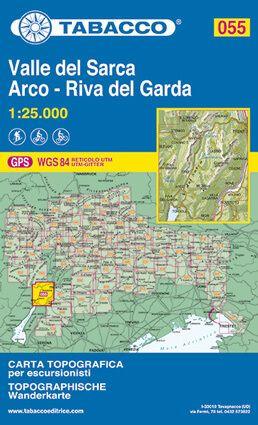 Tabacco 055 Valle Sarca, Arco, Riva del Garda, Trentino Wanderkarte