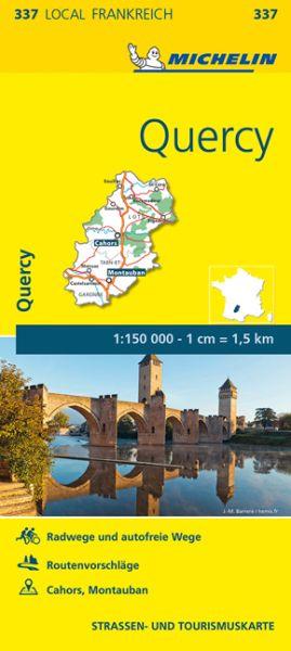 Michelin local 337 Quercy Straßenkarte 1:150.000