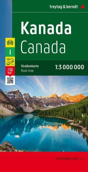 Kanada, Straßenkarte 1:3.000.000, Freytag und Berndt