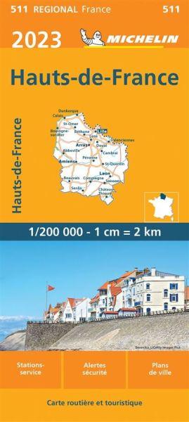 Nordfrankreich Karte.Michelin Regional 511 Nordfrankreich Flandern Wetterfeste Karte 1 200 000