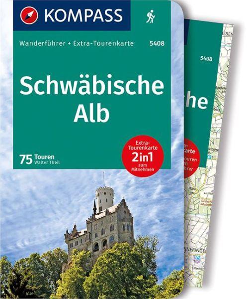 Schwäbische Alb mit Karte, Kompass Wanderführer