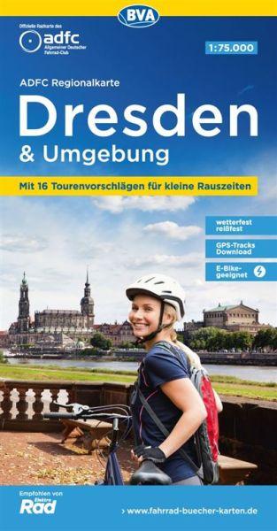 ADFC-Regionalkarte, Dresden und Umgebung, Radwanderkarte