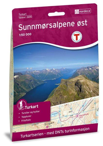 Sunnmørsalpene Ost Wanderkarte 1:50.000 – Norwegen, Turkart 2690 von Nordeca