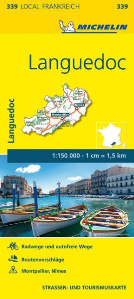 Michelin local 339 Languedoc Straßenkarte 1:150.000