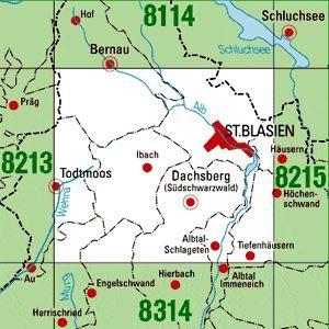 8214 ST.BLASIEN topographische Karte 1:25.000 Baden-Württemberg, TK25