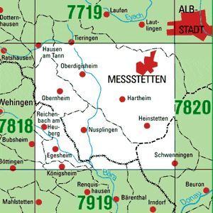 7819 MESSSTETTEN topographische Karte 1:25.000 Baden-Württemberg, TK25