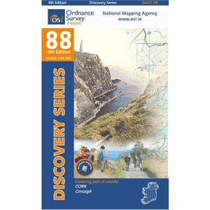 OSI 88 Cork, Wanderkarte, Ordnance Survey Ireland