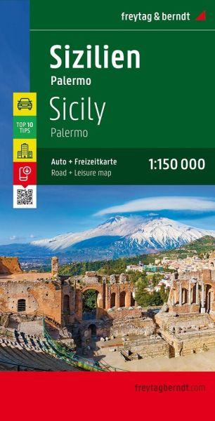 Sizilien - Palermo Straßenkarte 1:150.000, Freytag und Berndt