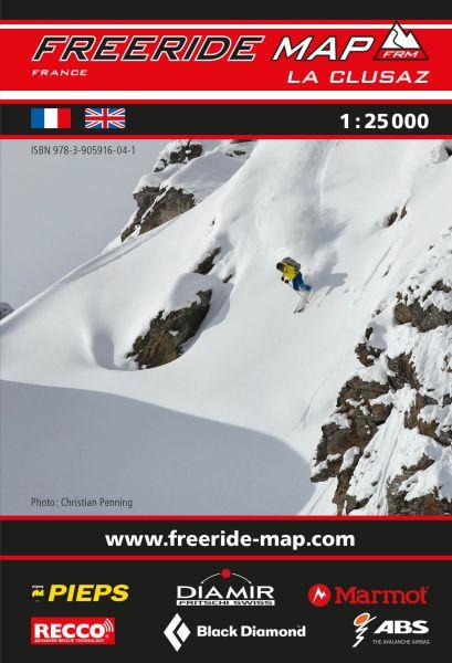 Freeride Map La Clusaz, Skitourenkarte 1:25.000