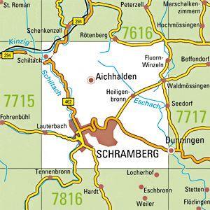7716 SCHRAMBERG topographische Karte 1:25.000 Baden-Württemberg, TK25