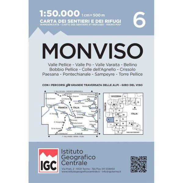 IGC 6 - Wanderkarte für Monviso 1:50.000