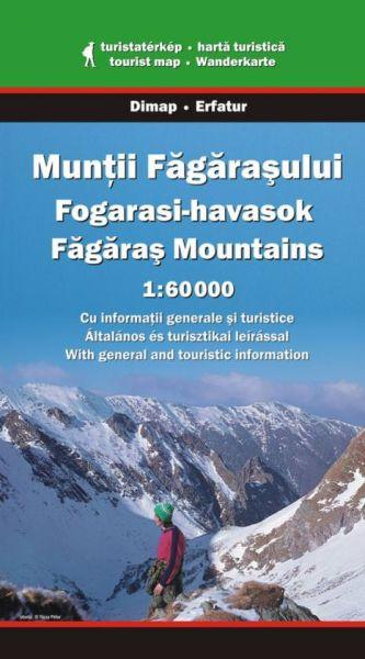 Karpaten Wanderkarte: Muntii Fagarasului / Fogarascher-Gebirge 1:60.000, Dimap