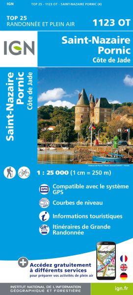 IGN 1123 OT St-Nazaire / Pornic / Côte de Jade, Frankreich Wanderkarte 1:25.000