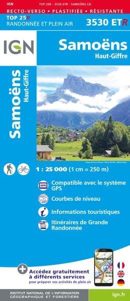IGN 3530 ETR Samoëns / Haut-Giffre, Frankreich reiß- und wasserfeste Wanderkarte 1:25.000
