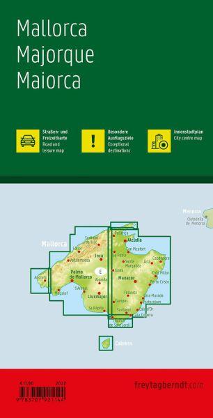 Mallorca, Freizeit- & Straßenkarte 1:50.000, Freytag und Berndt