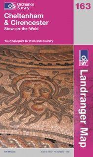 Landranger 163 Cheltenham & Cirencester, Großbritannien Wanderkarte 1:50.000