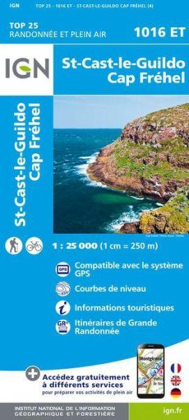IGN 1016 ET St-Cast-le-Guildo, Cap Frehel, Frankreich Wanderkarte 1:25.000