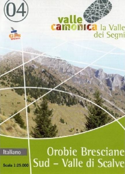 Wanderkarte 04 für Orobie Bresciane Sud - Valle di Scalve im Maßstab 1:25.000, Ingenia