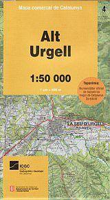 Alt Urgell, Katalonien topographische Karte, 1:50.000, ICC 4