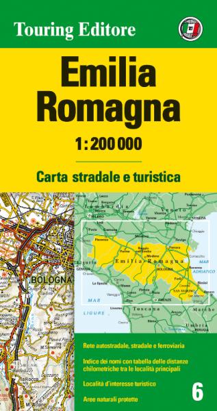 Emilia Romagna Straßenkarte, TCI 6, 1:200.000