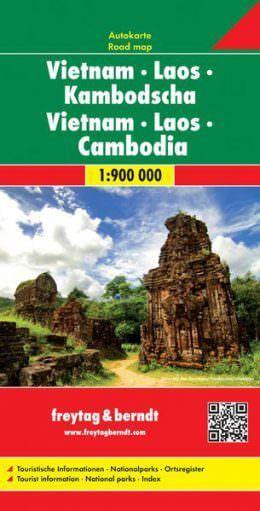 Vietnam, Laos, Kambodscha, Straßenkarte 1:1.000.000, Freytag und Berndt