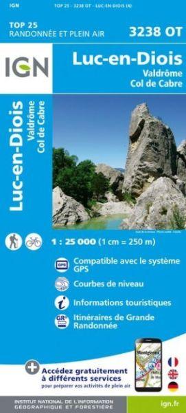 IGN 3238 OT Luc-en-Diois / Valdrôme / Col de Cabre, Frankreich Wanderkarte 1:25.000