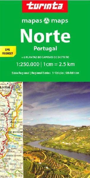 Portugal Regionale Straßenkarte SR1: Norte Portugal 1:250.000, Turinta Mapas