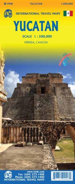 Yucatan Landkarte 1:500.000, ITM, englisch