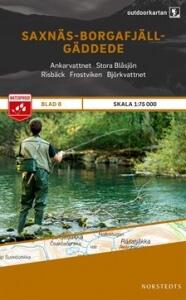 Saxnäs - Borgafjäll - Gäddede, Outdoorkartan Blatt 8, Schweden Wanderkarte 1:75.000