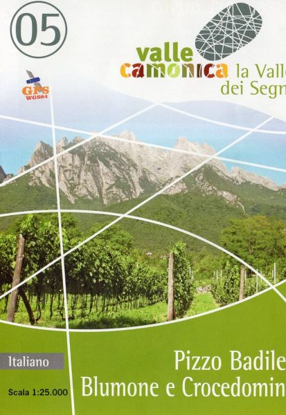 Wanderkarte 05 für Pizzo Badile, Blumone e Crocedomini im Maßstab 1:25.000, Ingenia