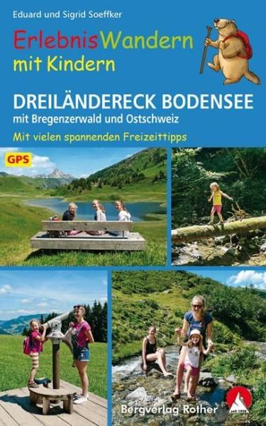 Dreiländereck Bodensee, ErlebnisWandern mit Kindern, Wanderbuch von Rother