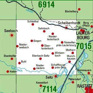 7014 SCHEIBENHARDT topographische Karte 1:25.000 Baden-Württemberg, TK25