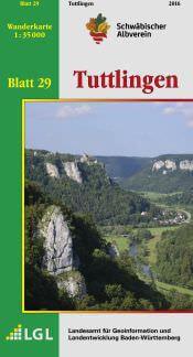 Tuttlingen Wanderkarte 1:35.000 Schwäbischer Albverein
