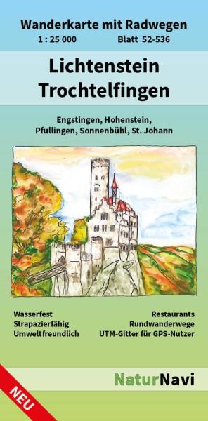 Lichtenstein & Trochtelfingen 1:25.000 Wanderkarte mit Radwegen – NaturNavi Bl. 52-536