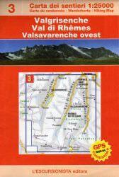 Valgrisenche, topographische Wanderkarte 1:25.000 L'Escursionista editore Bl.3