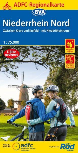 ADFC-Regionalkarte, Niederrhein nord, Radwanderkarte