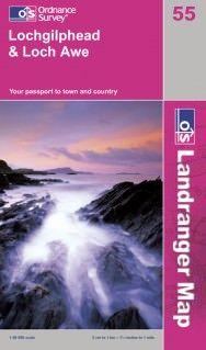 Landranger 55 Lochgilphead & Loch Awe, Großbritannien Wanderkarte 1:50.000