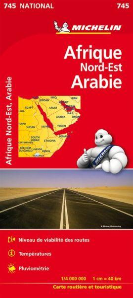 Michelin 745 Nordost-Afrika, Arabien; Straßenkarte 1:4.000.000