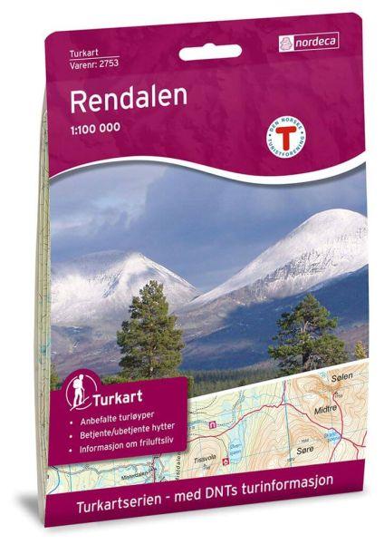 Rendalen Wanderkarte 1:100.000 – Norwegen, Turkart 2753 von Nordeca