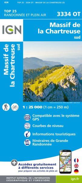 IGN 3334 OT Massif de la Charteuse sud, Frankreich Wanderkarte 1:25.000