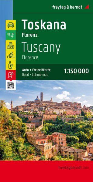 Toskana - Florenz Straßenkarte 1:150.000, Freytag und Berndt