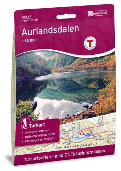 Norwegen topographische Wanderkarte Aurlandsdalen 1:50.000, Turkart 2565