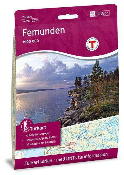 Norwegen topographische Wanderkarte Femunden 1:100.000, Turkart 2559