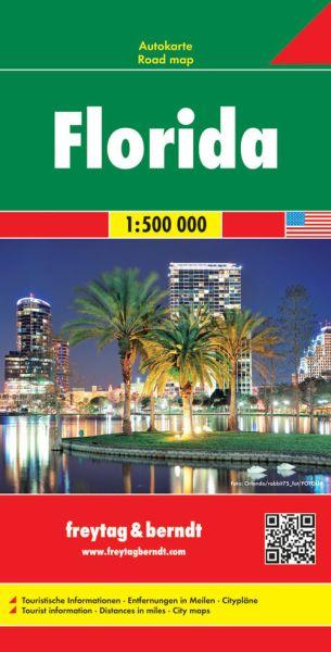 Florida Straßenkarte 1:500.000, Freytag und Berndt