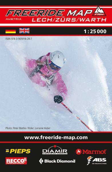 Freeride Map Lech/Zürs, Skitourenkarte 1:25.000